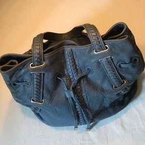 Treesje Leather Bag Large Blue